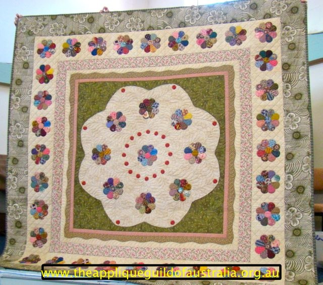 image of My Dresden Delights quilt.