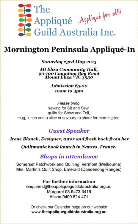 Mornington Peninsula Applique in