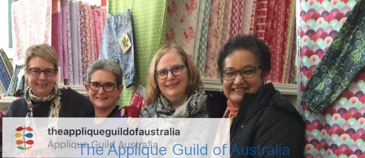 Margaret Mew, Judy Newman and Irene Blanck chat needles