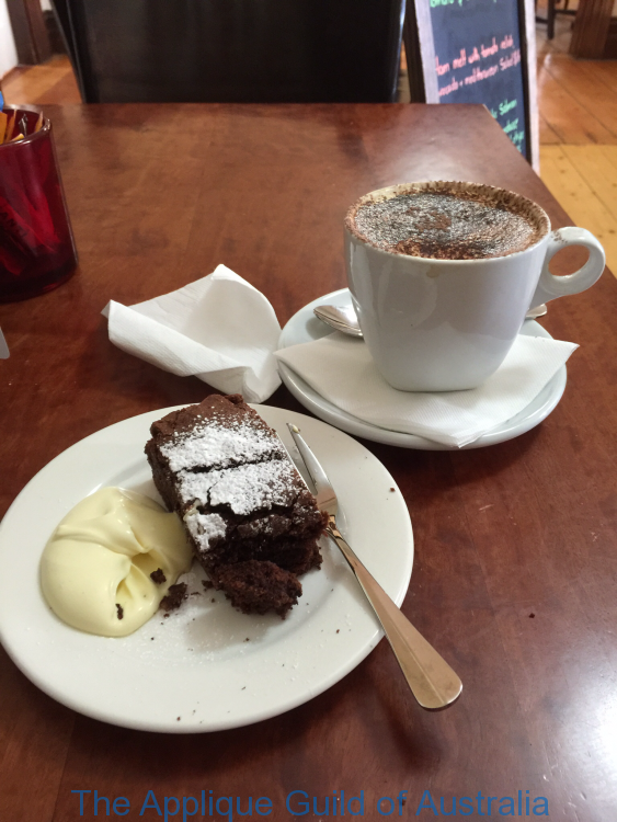 Always stop for coffe and cake between fabric shops.