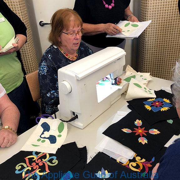 image of Sue Demonstrating Fusible Machine applique